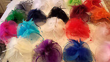 Joblot of 20 Feather & Sinamay Hair Fascinator clip NEW Wholesale lot B