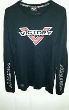 Victory Motorcycle's 106 FREEDOM Black Long Sleeve Shirt mens size large