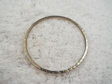 Hammered Goldtone Bangle Bracelet (D4)
