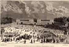 GRAVURE 1878 ENGRAVING PARIS PLACE LOUIS XV CONCORDE