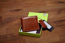 Ted Baker Keepers Edge paint Bifold Card Tan Leather Wallet BNWT RRP £55