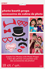 10 x Valentines Photo Booth Face Photo Props Party Activity Ideas FREE P&P