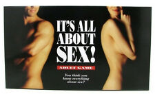 New IT'S ALL ABOUT SEX! ADULT BOARD GAME BLINDFOLD Sexy Couples Foreplay Fantasy