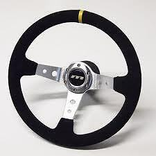 340 mm M gamma Deep riservato NERO DELL' ALCANTARA Rally Sport Racing STEERING WHEEL