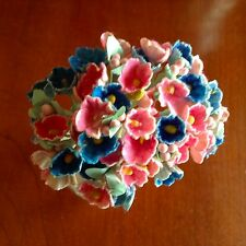 Vtg Millinery Flowers Forget Me Not Pink Blue Mix for Hat Doll + Hair Ginny PB1