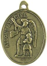 GUARDIAN ANGEL / VIRGIN MARY Medal, bronze, cast from antique French original