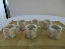 WEDGWOOD NASTURTIUM FLOWER OVEN TO TABLE DEMITASSE ESPRESSO MINI CUP MUG *SET 6