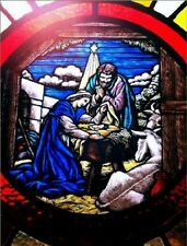 "*Postcard-""The Nativity...on Stained Glass""   ...Classic-"
