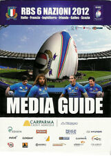 Italy 2012 Six Nations Official Media Guide Rugby Booklet