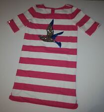 New Gymboree Pink White Striped Seagull Dress Size 10 year NWT Shore to Love