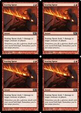 4x SEARING SPEAR M13 Magic 2013 MTG Red Instant Com