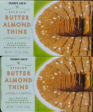 2 Boxes Trader Joe's Butter Almond Thins Traditional Belgian Biscuit 7.5ozBx