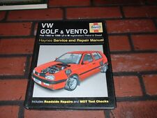 HAYNES MANUAL FOR VOLKSWAGEN GOLF & VENTO .1992-1996. J TO N REGISTRATION.