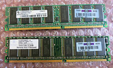 2 x HP 326667-041 256MB PC3200 DDR-400MHz non-ECC Unbuffered CL3 184-Pin DIMM