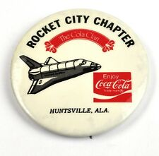 Coca Cola Coke Pin Button Badge Anstecknadel USA Rocket City Space Shuttle