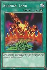 YU-GI-OH CARD: BURNING LAND - YGLD-ENA31 - 1st EDITION