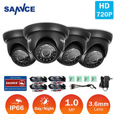 SANNCE 4x HD TVI 720P In/ Outdoor Home Security CCTV Cameras IR CUT Night Vision