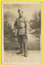 cpa CARTE PHOTO E. BOULIN Fait Pendant la Guerre à l'Hopital 54 d'Orléans Soldat