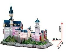 Museum Quality LED Lighted Architectural Model Neuschwanstein Castle Mint in Box
