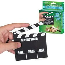 My Cat Video Clapperboard Movie Clapper Board Crazy Kitty Lady Gag Gift Novelty