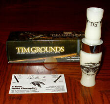 TIM GROUNDS TRIPLE THANG ACRYLIC SHORT REED GOOSE CALL IVORY NEW!