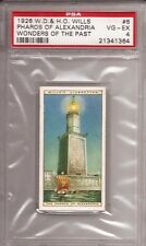 1926 Wills Wonders of the Past Tobacco Card #6 The Pharos of Alexandria PSA 5 EX