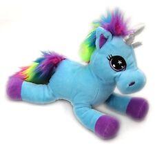 Snuggle Pals Plush Rainbow Unicorn Soft Toy ~ Blue