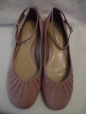 NINE WEST PINK SUEDE LEATHER ANKLE STRAP SHOES size 6 BNEW