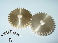 30 Zähne, Modul 1,5  Zahnrad Messing Bohrung Ø10. Einhell BT-MR550