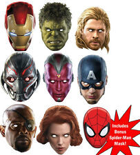 âge de Marvel d'Ultron The Avengers Ensemble de 9 variété Carte Masque Visage