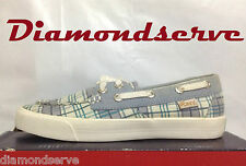 Authentic PONY WOMEN SHOES 221G09 White/BLUE Size 8.5 NEW