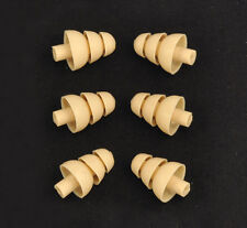 6 ALMOND Triple Flange Ear tip Sleeves fit SHURE SE215 SE315 SE425 SE535 Earbud