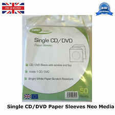 50 solo CD DVD Mangas de papel Cartera Nueva Alta Calidad 50 por paquete de medios neo