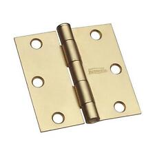 """25-Steel Brass Finish 3"""" Square Full Mortise Residential Door Hinge 2/Pk N186908"""