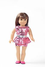 2015 Handmade fashion clothes dress for 18inch American girl doll party b129