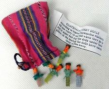 NEW UNIQUE HAND MADE TRADITIONAL GUATEMALAN WORRY DOLLS CHILDREN DREAMS SAFE