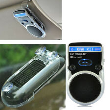 Wireless Multipoint  Solar Bluetooth Hands Free Car Kit Speakerphone Speaker