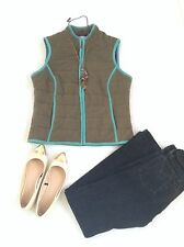 Boden Quilted Wool Gilet Vest Size 6