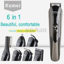 6in1 Rechargeable Hair Clipper Body Nose Trimmer Cutting Electric Men's Shaver