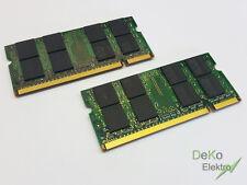 2x 2gb de memoria RAM 4gb | ddr2 | para Fujitsu Siemens lifebook e8110 e8210 e8310