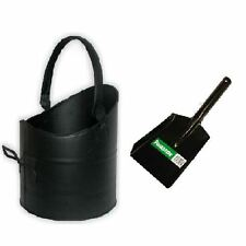 Parasene Flanders Black Coal Hod With Showel For Fireplace House, Home Office