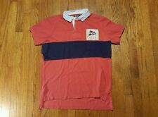 POLO RALPH LAUREN YACHT CLUB Polo Shirt Red Blue patch Custom Fit LARGE VTG 90s