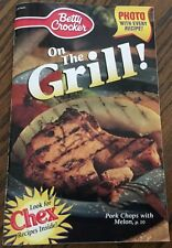 "Betty Crocker ""On the Grill!"" recipe Booklet, 81 Pgs, Including Chex Mix recipes"