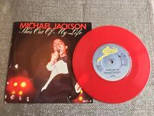 "7"" Red Vinyl Michael Jackson She's Out of my Life / Push Me Away"