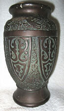Beautiful Vintage 1920's Japanese Vase w/ Intricate Art Deco Designs Tokanabe