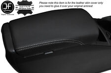 WHITE STITCH ARMREST LID LEATHER COVER FITS NISSAN QASHQAI J11 2013-2016