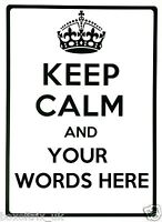 KEEP CALM AND (your words here) - Wall Art Vinyl Sticker Personalised Custom