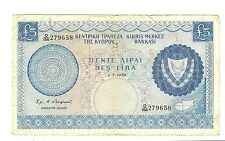 CYPRUS 1975 Five POUNDS 5 £ BANKNOTE CHYPRE CHIPRE CIPRO