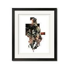 Metal Gear Solid Snake Urban Art Poster Print