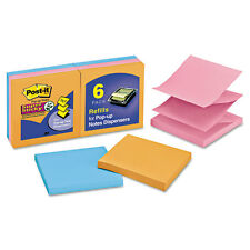 Post-it Pop-up Notes Super Sticky Pop-Up Note Refill Marrakesh 90/pad 6 Pads/PK